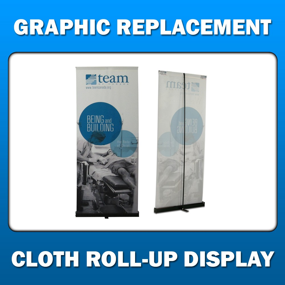 Cloth Roll-Up Display - Graphic Replacement