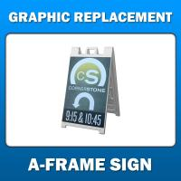 A-Frame Display - Graphic Replacement