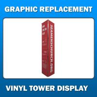 Vinyl Fold-Up Tower Display - Graphic Replacement