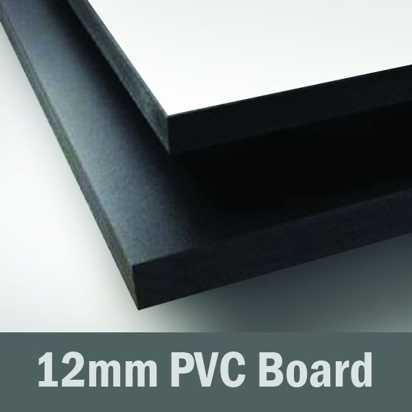 12in x 6in - 12mm PVC Sheet (White or Black)