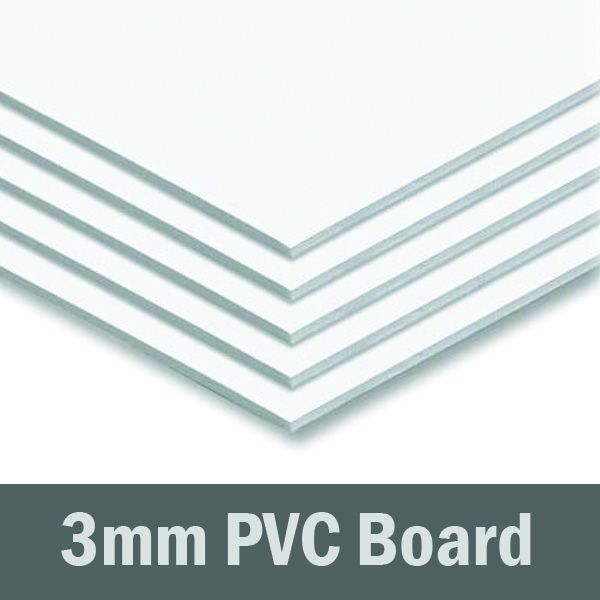 24in x 24in - 3mm White PVC Sheet (Sintra)