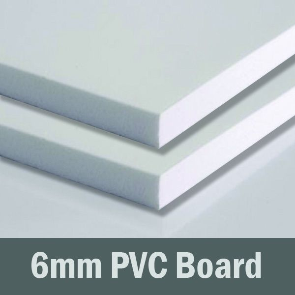 24in x 24in - 6mm White PVC Sheet (Sintra)