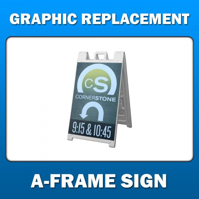 A-Frame Graphic Replacement - 24x36 Coroplast Sign Insert