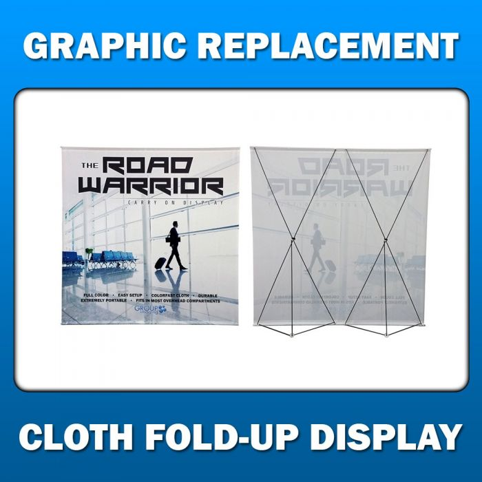 3ft x 8ft  Cloth Fold-Up Display - Graphic Replacement