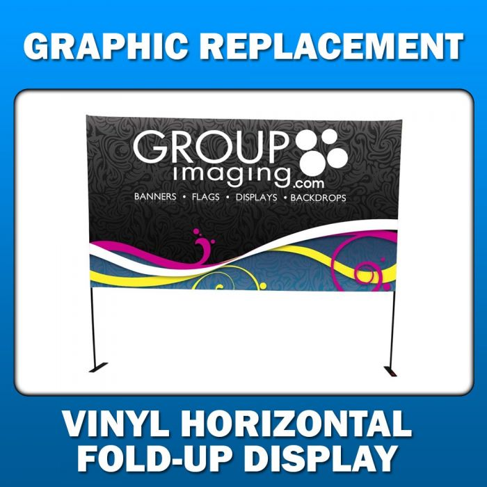 4ft x 4ft Vinyl Horizontal Fold-Up Display - Graphic Replacement