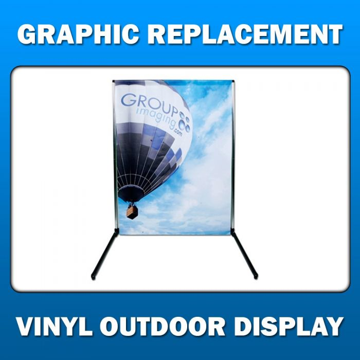 2ft x 7ft  Portable Outdoor Display - Graphic Replacement