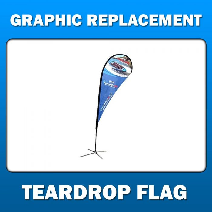 14.5' Teardrop Flag - Large - Graphic Replacement