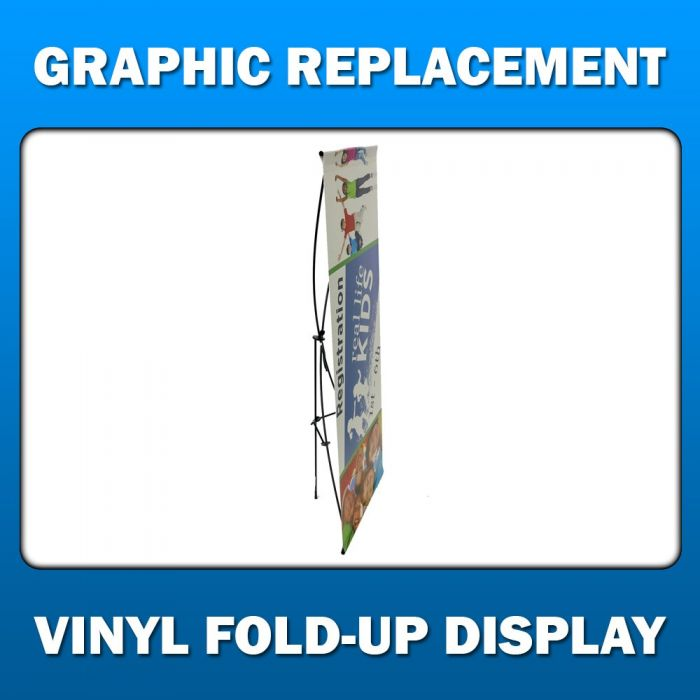 3ft x 12ft  Vinyl Fold-Up Display - Graphic Replacement
