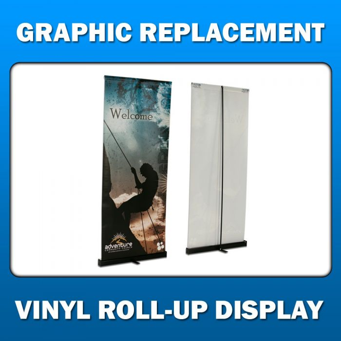 5ft x 4ft  Vinyl Roll-Up Display - Graphic Replacement
