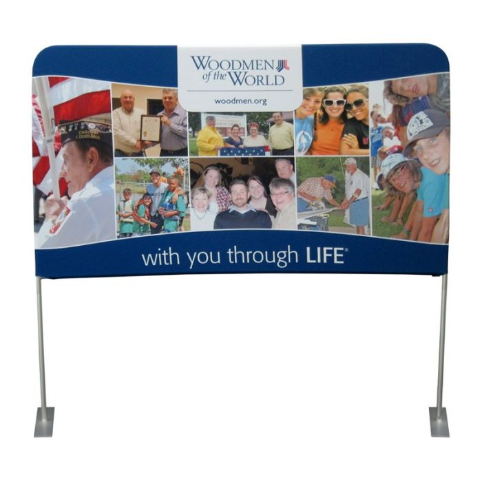 6ft x 3ft  Lifted Pillowkase Display - Tension Fabric