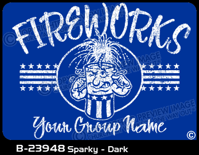 B-23948 - Sparky - Dark - Apparel Template