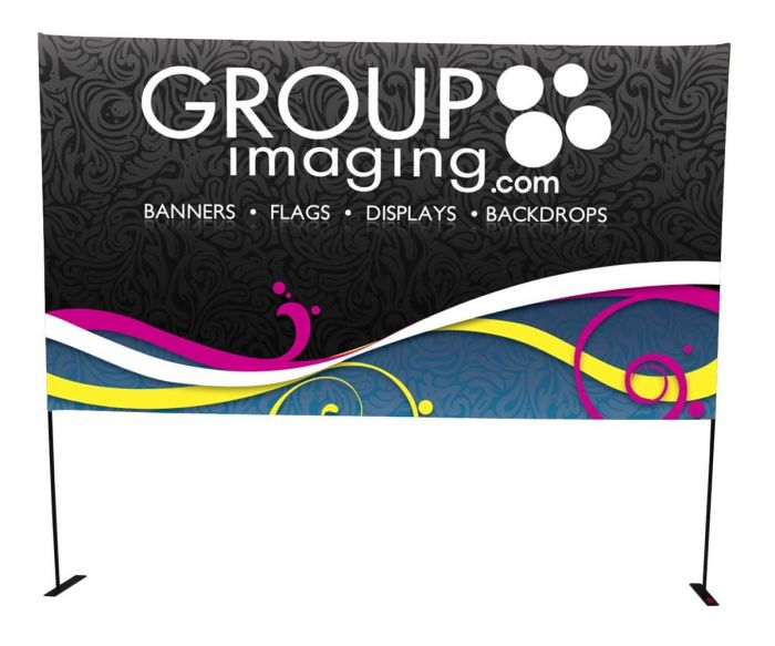 8ft x 2ft Horizontal Fold-Up Display - Vinyl