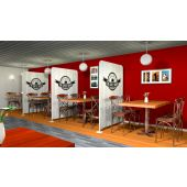 Restaurant Partition & Privacy Barrier