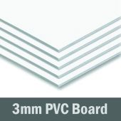 12in x 6in - 3mm White PVC Sheet (Sintra)