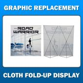 2ft x 11ft  Cloth Fold-Up Display - Graphic Replacement
