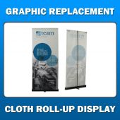 1.5ft x 7ft  Cloth Roll-Up Display - Graphic Replacement