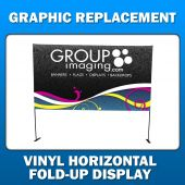 4ft x 3ft Vinyl Horizontal Fold-Up Display - Graphic Replacement