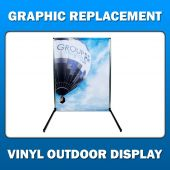 2ft x 6ft  Portable Outdoor Display - Graphic Replacement