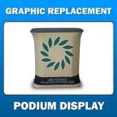 Podium Display - Graphic Replacement