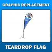 11' Teardrop Flag - Medium - Graphic Replacement