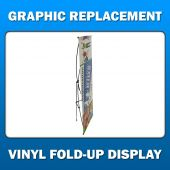 3ft x 8ft  Vinyl Fold-Up Display - Graphic Replacement