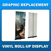 3ft x 8ft  Vinyl Roll-Up Display - Graphic Replacement