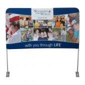 10ft x 3ft  Lifted Pillowkase Display - Tension Fabric