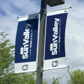 2.5ft x 8ft - Pole Banners