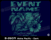 B-26071 - Aloha Pacific - Dark - Apparel Template