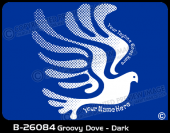 B-26084 - Groovy Dove - Dark - Apparel Template