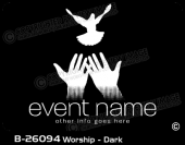 B-26094 - Worship - Dark - Apparel Template