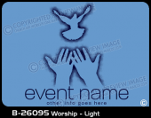 B-26095 - Worship - Light - Apparel Template
