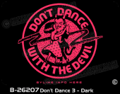 B-26207 - Don't Dance 3 - Dark - Apparel Template