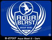 B-27017 - Aqua Blast 2 - Dark - Apparel Template