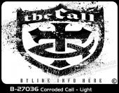 B-27036 - Corroded Call - Light - Apparel Template