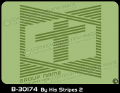 B-30174 - By His Stripes 2 - Apparel Template