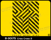 B-30175 - Criss Cross 2 - Apparel Template
