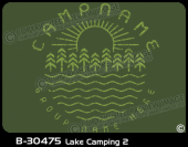 B-30475 - Lake Camping 2 - Apparel Template