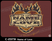C-23731 - Name of Love - Apparel Template