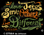 C-27564 - Be Different - Apparel Template