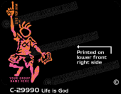 C-29990 - Life is God - Apparel Template
