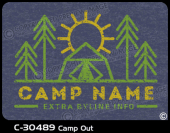 C-30489 - Camp Out - Apparel Template
