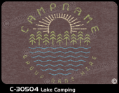 C-30504 - Lake Camping - Apparel Template