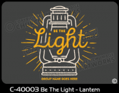 C-40003 - Be The Light - Lantern
